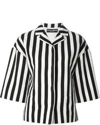 Chaqueta de rayas verticales en blanco y negro de Dolce & Gabbana