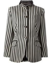 Chaqueta de rayas verticales en blanco y negro de Jean Paul Gaultier