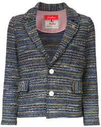 Chaqueta de tweed azul marino de Coohem