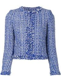 Chaqueta de tweed azul de Alice + Olivia