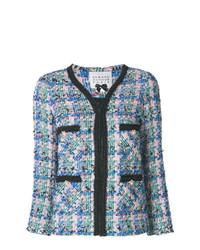 Chaqueta de tweed azul de Edward Achour Paris