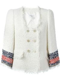Chaqueta de tweed blanca de Sonia Rykiel