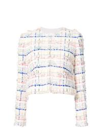 Chaqueta de tweed blanca de Thom Browne