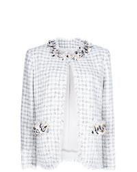 Chaqueta de tweed con adornos blanca de MSGM