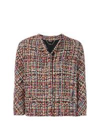 Chaqueta de tweed en multicolor de Alexander McQueen