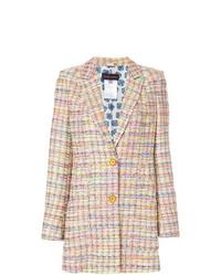 Chaqueta de tweed en multicolor de Talbot Runhof