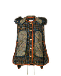 Chaqueta de tweed estampada azul marino de Peter Pilotto