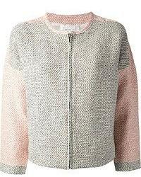 Chaqueta de tweed gris de Derek Lam