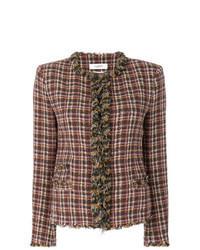 Chaqueta de tweed marrón