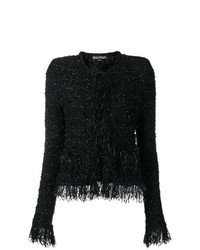 Chaqueta de tweed negra de Balmain