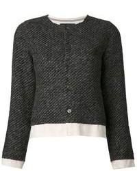 Chaqueta de tweed negra de Comme des Garcons