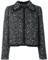 Chaqueta de tweed negra de Giambattista Valli