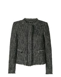 Chaqueta de tweed negra de Luisa Cerano