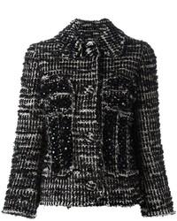 Chaqueta de tweed negra de Simone Rocha