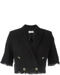 Chaqueta de tweed negra de Sonia Rykiel