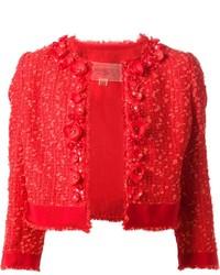Chaqueta de tweed roja