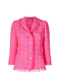 Chaqueta de tweed rosa