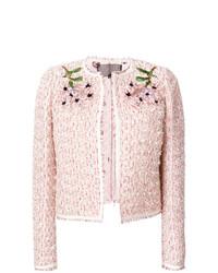 Chaqueta de tweed rosada de Giambattista Valli