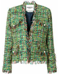 Chaqueta de tweed verde