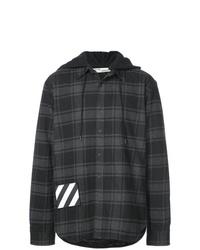 Chaqueta estilo camisa a cuadros en gris oscuro de Off-White
