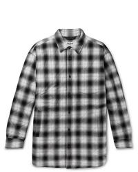 Chaqueta estilo camisa a cuadros en negro y blanco