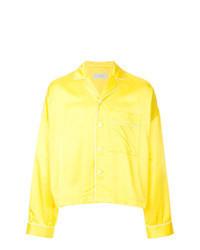 Chaqueta estilo camisa amarilla