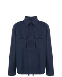 Chaqueta estilo camisa azul marino de BOSS HUGO BOSS