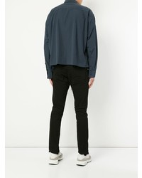 Chaqueta estilo camisa azul marino de Unused