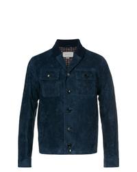 Chaqueta estilo camisa azul marino de Gucci