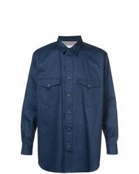 Chaqueta estilo camisa azul marino de Julien David
