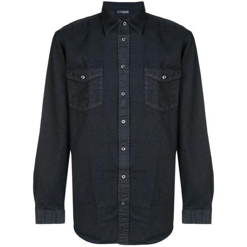 Chaqueta estilo camisa azul marino de Massimo Alba