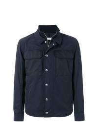 Chaqueta estilo camisa azul marino de Moncler
