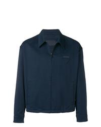 Chaqueta estilo camisa azul marino de Prada