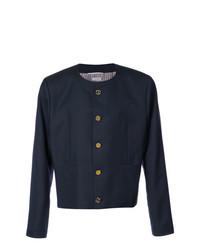 Chaqueta estilo camisa azul marino de Thom Browne