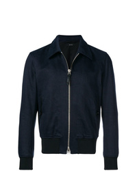 Chaqueta estilo camisa azul marino de Tom Ford