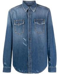 Chaqueta estilo camisa azul de Givenchy