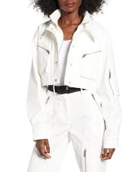 Chaqueta estilo camisa blanca