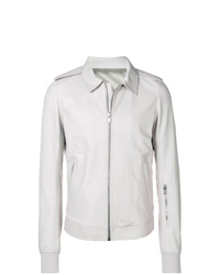 Chaqueta estilo camisa blanca de Rick Owens