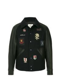 Chaqueta estilo camisa bordada negra de Kent & Curwen