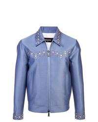 Chaqueta estilo camisa celeste de DSQUARED2