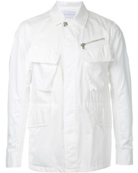 Chaqueta estilo camisa de algodón blanca de ESTNATION