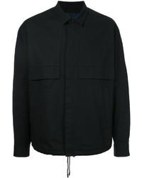 Chaqueta estilo camisa de algodón negra de Juun.J