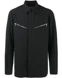 Chaqueta estilo camisa de algodón negra de rag & bone