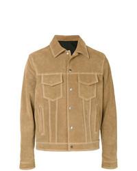 Chaqueta estilo camisa de ante marrón claro