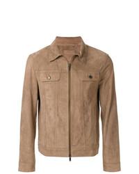 Chaqueta estilo camisa de ante marrón claro de Desa Collection