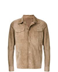 Chaqueta estilo camisa de ante marrón claro de Eleventy