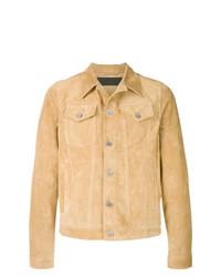 Chaqueta estilo camisa de ante marrón claro de JW Anderson