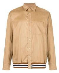 Chaqueta estilo camisa de ante marrón claro de Loveless