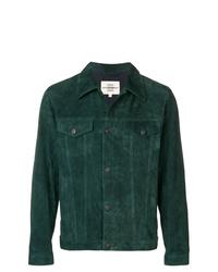 Chaqueta estilo camisa de ante verde oscuro de Kent & Curwen