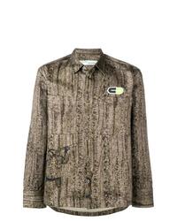 Chaqueta estilo camisa de camuflaje marrón claro de Off-White